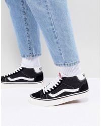 8d3c903e6ed27b Vans Iso 2 Sneaker In Black Va2z5tn77 in Black for Men - Lyst