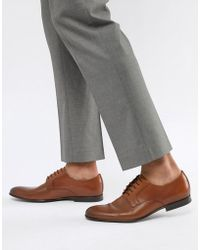 PS by Paul Smith - Gould Leather Derby Shoe In Tan - Lyst