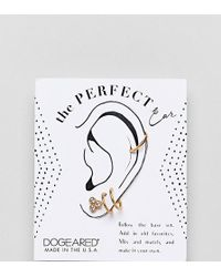 Dogeared - Sterling Silver Gold Plated Perfect Ear Layering Pack - Lyst