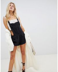 Free People - Expedition Dungaree Playsuit - Lyst