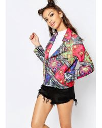 Jaded London - Festival Biker Jacket - Multi - Lyst