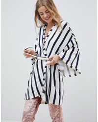 Chelsea Peers - Nyc Striped Lux Gown - Lyst