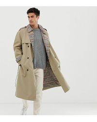 Noak - Trench-coat avec doublure à carreaux - Taupe - Lyst