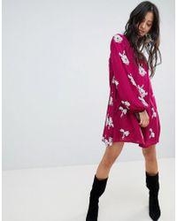 Free People - Emma Floral Print Dress - Lyst