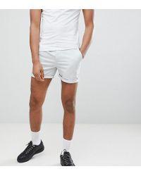 ASOS - Design Tall Skinny Shorter Chino Shorts In Ice Gray - Lyst