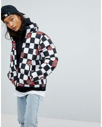 Santa Cruz - Padded Jacket With All Over Logo - Lyst
