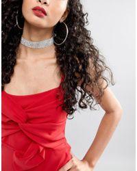 ASOS - Design Jewel Choker Necklace - Lyst