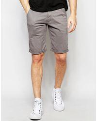 Lindbergh - Chino Shorts In Grey - Lyst