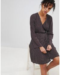 Pepe Jeans - Lauren Printed Wrap Dress - Lyst