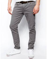 Farah - Drake Slim Fit Jean In Gray Twill - Lyst