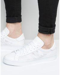 Lyst adidas Originals Court Vantage formadores en blanco s76659 en