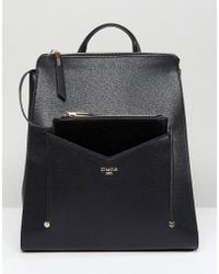 Dune - Backpack In Black With Detachable Front Purse - Lyst