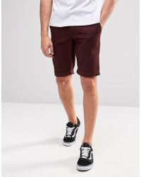 Minimum - Chino Shorts In Red - Lyst