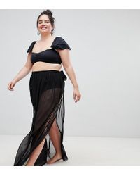 ASOS - Maxi Chiffon Beach Sarong With Satin Tie - Lyst