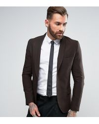 Only & Sons - Skinny Shawl Suit Jacket In Tonic - Lyst