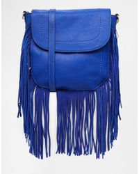 Urban Originals - Fringed Cross Body Bag - Lyst