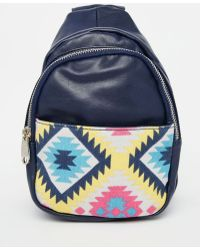 Urban Originals - Backpack With Printed Pocket - Lyst