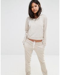 Glamorous - Oversized Boxy Hoodie With Lace Up - Lyst
