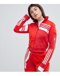 adidas Originals - X Danielle Cathari Deconstructed Track Top In Red - Lyst