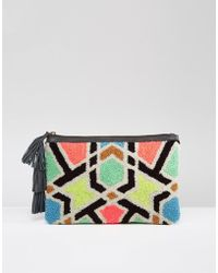 Cleobella - Sunset Embroidered Clutch Bag - Lyst