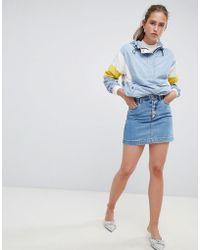 Miss Selfridge - Denim Skirt With Button Down Front - Lyst