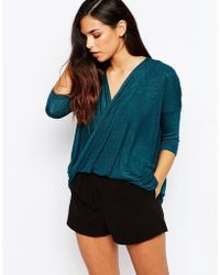 AX Paris - Cross Wrap Front Knit Top - Lyst