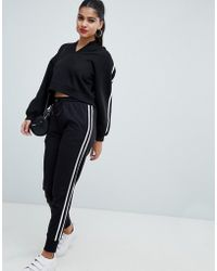 AX Paris - Sweatpant With Striped Side Detail - Lyst