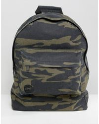 Mi-Pac - Canvas Backpack In Camo - Lyst