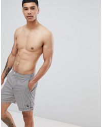 Ted Baker - Swim Shorts With Stripe - Lyst