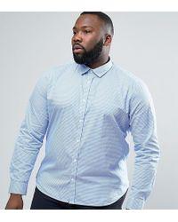 Lambretta - Plus Smart Check Slim Fit Shirt - Lyst