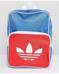 adidas Originals - Adicolor Retro Backpack In Blue Cw2619 - Lyst 5c9331625c