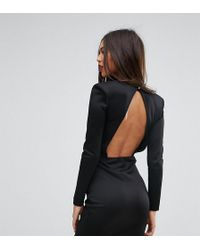 Missguided - Open Back Mini Dress With Shoulder Pads - Lyst