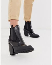 ASOS - Rico Chunky Chelsea Boots In Black Box - Lyst