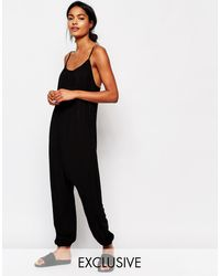 Nocozo | Relaxed Jumpsuit With Rouched Neck | Lyst