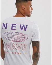 b5e8a013 Jack & Jones T-shirt With Chest Logo Print In Slim Fit in White for ...