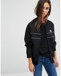 Le Coq Sportif - Bomber Jacket With Piping - Lyst