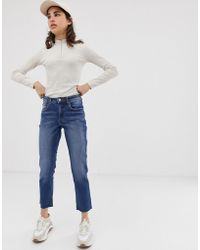 Cheap Monday - Revive Straight Cropped Jeans - Lyst