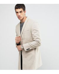 Noak - Skinny Smart Overcoat With Shawl Lapel - Lyst
