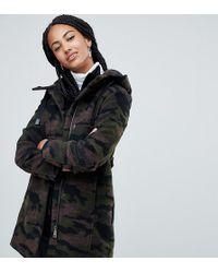 Esprit - Manteau capuche imprim camouflage - Lyst