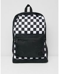 Jack & Jones - Backpack With Checkerboard Print - Lyst