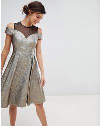 Coast - Jiana Metallic Party Dress - Lyst