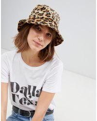 Stradivarius - Leopard Bucket Hat - Lyst