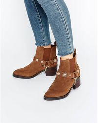 E8 - E8 By Miista Odell Western Embellished Suede Heeled Ankle Boots - Lyst