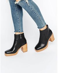 E8 - E8 By Miista Laverne Platform Stacked Leather Heeled Ankle Boots - Lyst
