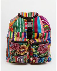 Hiptipico - Small Backpack With Embroidery - Lyst