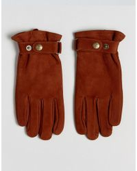 Dents - Wells Nubuck Leather Gloves - Lyst