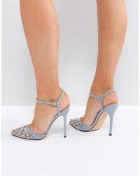 Office - Hottentot Grey Embellished Heeled Shoes - Lyst