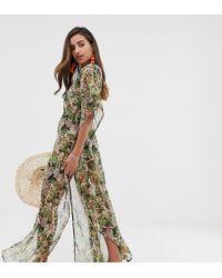 be2416549f Akasa Exclusive Beach Kaftan Dress In Stripe - Lyst