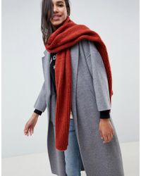 French Connection - Ribbed Knit Scarf - Lyst