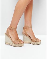 ALDO - Clodia Tan Espadrille Wedge Sandals - Lyst